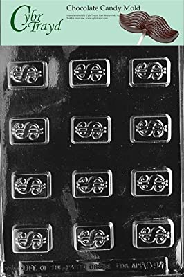 Cybrtrayd Life of the Party AO094 Dollar Sign All Occasions Chocolate Candy Mold in Sealed Protective Poly Bag Imprinted with Copyrighted Cybrtrayd Molding Instructions , Bite Size