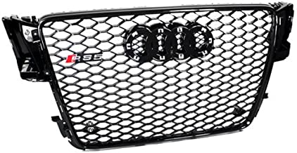 PROMOTORING For 08-12 Audi A5/S5 B8 8T RS5 Style Euro Honeycomb Hex Mesh Grille - Black (2008 2009 2010 2011 2012)