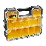 Stanley FatMax Aufbewahrungsbox (45 x 12 x 36 cm, tiefe Fächer, stabile Kunststoffschließen, herausnehmbare Boxen, kratz- und schlagfester Deckel) 1-97-521
