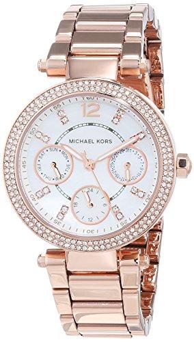Michael Kors Orologio Analogico Quarzo Donna con Cinturino in Acciaio Inossidabile MK5616, Oro Rosa