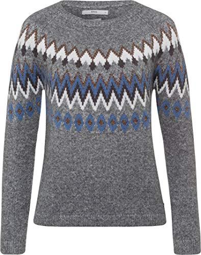 BRAX Damen Style Lisa Rundhals Pullover, Dove Blue, (Herstellergröße: 34)