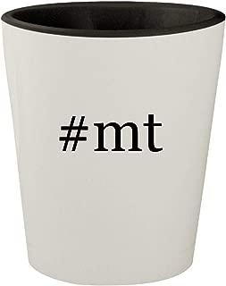 #mt - White Outer & Black Inner Hashtag Ceramic 1.5oz Shot Glass