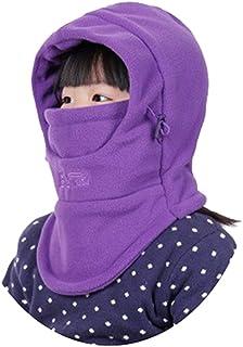 قبعة YR.Lover للأطفال مزدوجة السطح مقاومة للرياح قبعة سميكة دافئة الوجه قابلة للتعديل