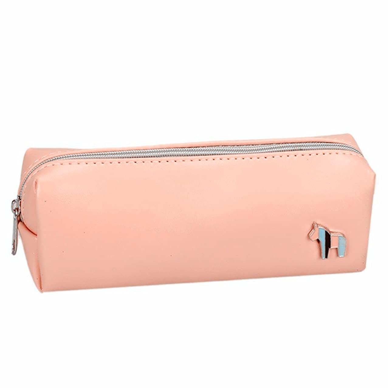 Funny live Lovely Pony Leather Pencil Case, Creative Contracted Pen Boxes (Pink)