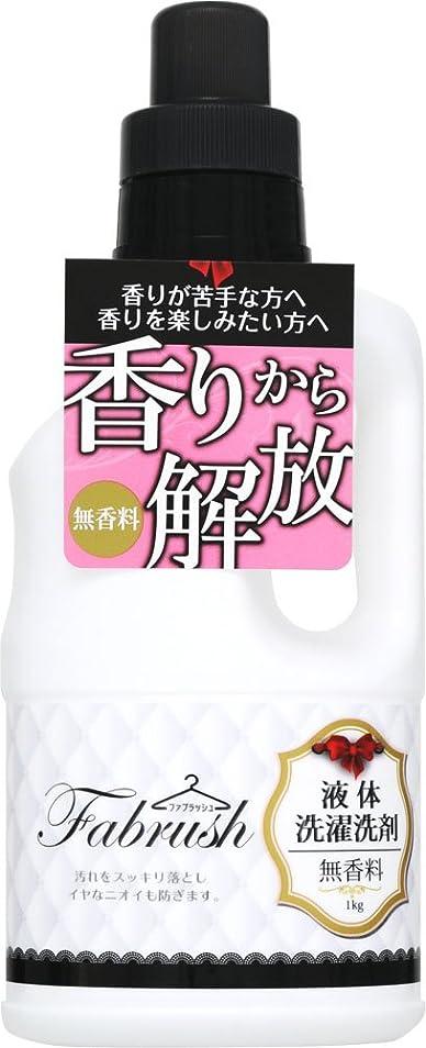 エイリアス姓会議fabrush 衣料用液体洗剤 無香料 1kg