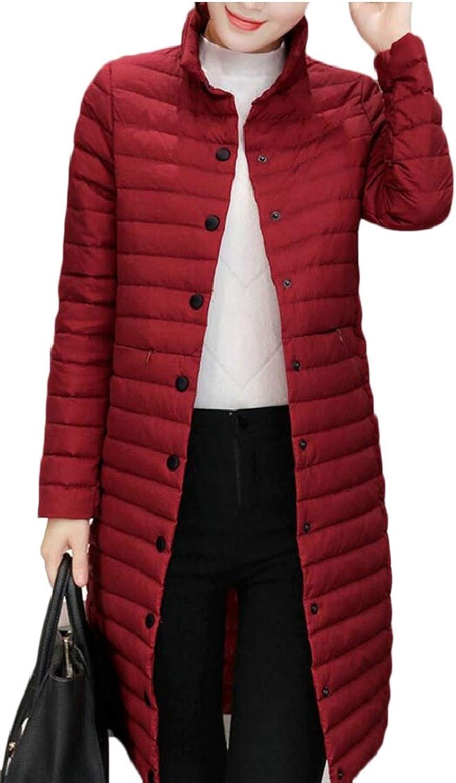 Women's Plus Size Lightweight Packable Long Down Jacket