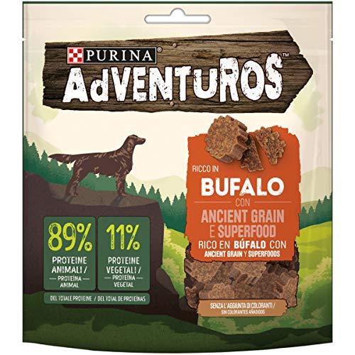 Adventuros Snack Cane, Ricco in Bufalo con Ancient Grain e Superfood - Confezione da 6 Buste x 120 g - 907 g