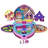 Polly Pocket coffret Fête Foraine transportable, mini-figurines Polly et Lila, autocollants et accessoires inclus, emballage fermé, jouet pour enfant, GYK91