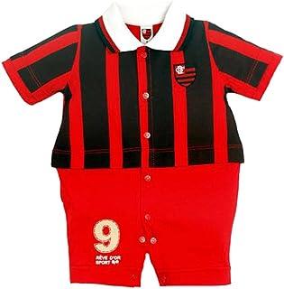 f11c42a5e Rêve D'or Sport - Macacão Uniforme de Campo Flamengo Menino, P, Vermelho