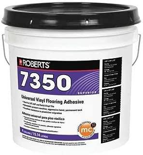 Roberts 7350-4 Universal Vinyl Flooring Adhesive 4 gal, 11.9
