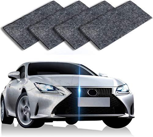 DAIRF Auto-Kratzer-Reparatur,4 Stück Schwarz Nano Magic Tuch für Auto Kratzer Entfernen,Mehrzweck Car Scratch Remover für Reparatur von leichten Kratzfarben,Lackpflege, Detailing, Autoreinigung