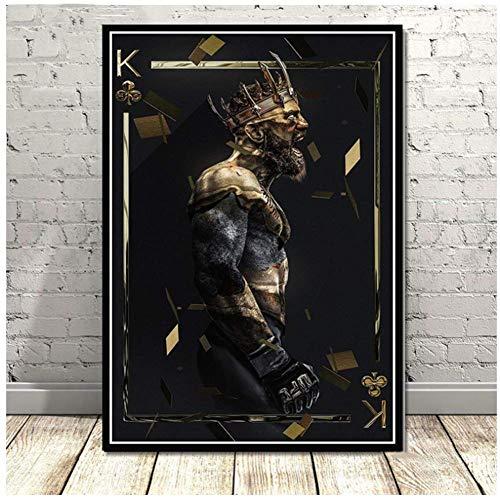 NRRTBWDHL Conor McGregor UFC Boxen Super Star Sport Poster Und Drucke Moderne Gemälde Leinwand Wandbilder Für Wohnzimmer Wohnkultur-60x80 cm Kein Rahmen