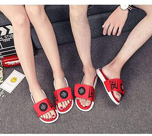 N/A Slippers Women Size 6,Mens Slippers Size 9 UK,Mens Slipper Boots,Sheepskin Slippers Men's,Kids Pool Shoes,Men's Sandals, Beach Shoes for Outer Wear, Fashionable Casual Slippers-Red_37/38