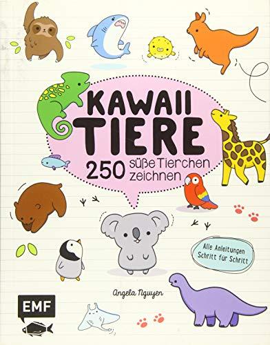 Kawaii Tiere: 250 süße Tierchen zeichnen – Alle Anleitungen Schritt für Schritt