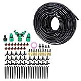 CjnJX-Vases Kit de riego, 25 m 4/7 Sistema de riego de jardín Kit de Adaptador de Boquilla de riego automático Juego de Herramientas de riego de jardinería para Patio de Invernadero