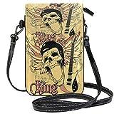 XCNGG bolso del teléfono Music Guitar Pattern Leaf Cell Phone Purse Crossbody...