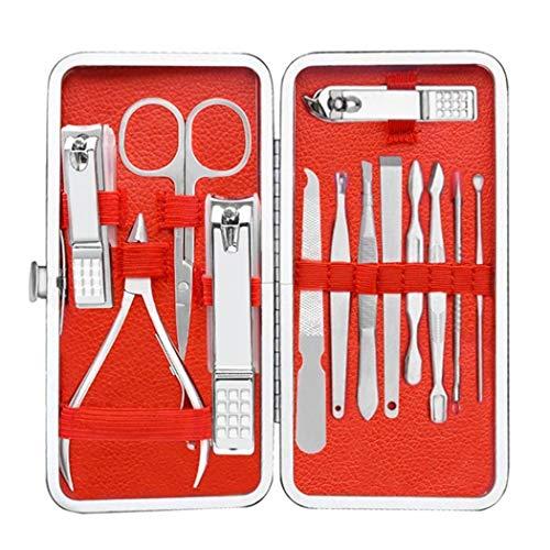 Cicadi 13pcs manucure set outils de soin des ongles set cas de ciseaux de pédicure Accessoires de décoration pour nail art