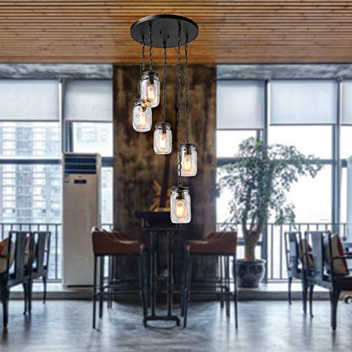 Kroonluchter Mason Jar Bottle Loft Style restaurant/bar/vloerlampen plafondlampen geschikt voor 10 tot 15 vierkante meter hangend licht