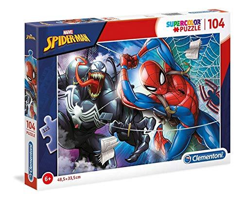 Clementoni 27117 Clementoni-27117-Supercolor puzzel Spiderman-104 delen, meerdere kleuren