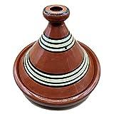 Ameublement Etnico Tajine 1801201047 Plat en terre cuite Marocino 35 cm