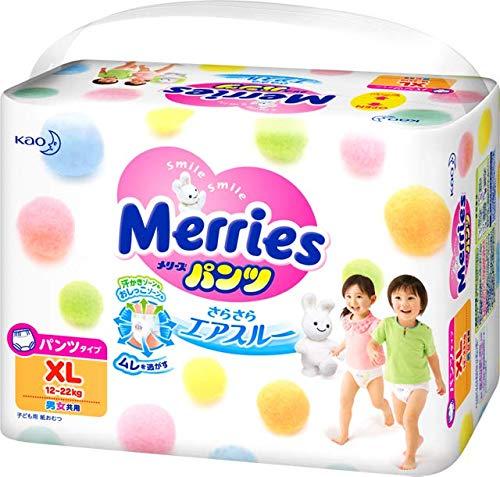 Merries Kao Baby Pants Diaper XL 38 Pieces x3 Bags Deal (12-22KG)