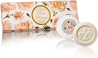 Saponificio Artigianale Fiorentino Rose Blossom Round Sculpted Soap Set, 300 Grams