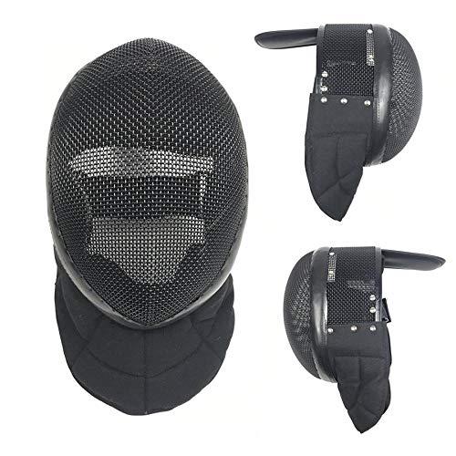 BEYONDTIME Florett Maske CE 1600N Zertifizierung Fechtschutzausrüstung Fechtaustattung Herausnehmbares Futter XL