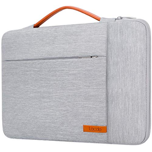 "Lacdo Capa Bolsa para 13"" Novo MacBook Pro A2338 M1 A2251 A2289 A2159 A1989 A1706 A1708, 13"" Novo MacBook Air A2337 M1 A2179 A1932, 12.9"" Novo iPad Pro 5th 4th 3rd 2021-2018 Notebook, Cinzento"