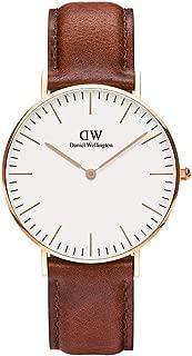 Daniel Wellington Women's Quartz Watch analog Display and Leather Strap, DW00100035