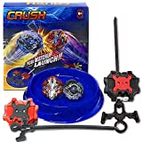 Crush Blades Battling Game Burst Tops Starter Set (1 Small Arena + 2 Launchers + 2 Burst Tops) B-85 Killer Deathscyther / Doomscizor & Xcalibur / Xcalius Burst B-120