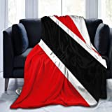 Bandiera-Trinidadetobago Home - Manta de Tiro Ultra Suave para Cama Forro Polar de Franela para Todas Las Estaciones Peso Ligero Sala de Estar/Coche/Viaje Manta c¨¢LIDA para ni?os Adultos 80 'x 60'