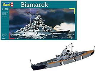 Revell Barco Bismarck 1/1200 Naval RE05802, Multicolor, 20,0 cm de Largo (05802)
