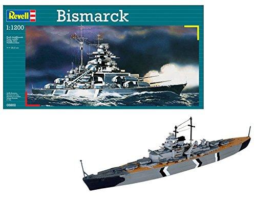 Revell Barco Bismarck 1/1200 Naval RE05802, multicolor, 20,0 cm de largo (05802)