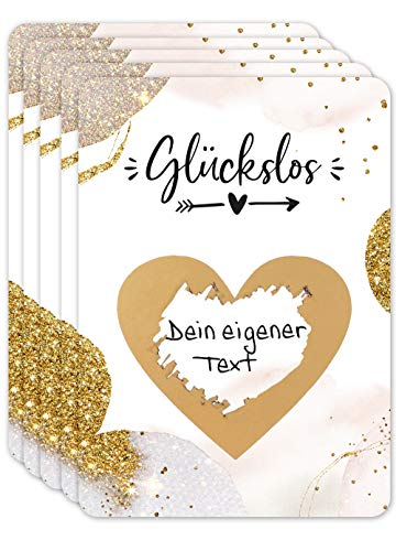 JoliCoon - Luxus Rubbellose selber machen - Personalisierte Geschenke oder Gutschein Karte...