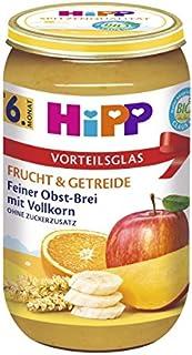HiPP 喜宝 精细水果全麦糊,6件装(6 x 250克)