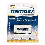 5x Nemaxx Lithium 9V Block Batterie Set für Rauchmelder 10 Jahre Lebensdauer