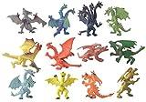 YIJIAOYUN  12 Piezas Creativas del dragón Volador Figuras Frescas del Castillo de...