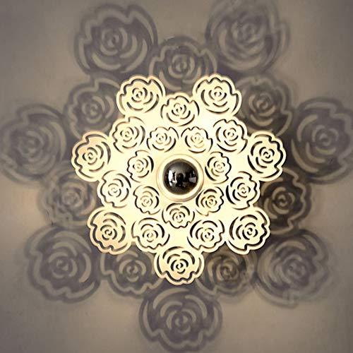Afittel0 Lámpara de Techo Noche Recambio Accesorios Flor Pantalla Interior Living Om Entrada Decoración Dormitorio Luz Ahorro de Energía LED Soporte de Pared (1) - como Imagen Show, 5