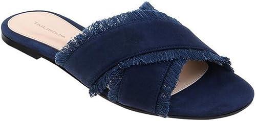SHINIK Chaussures pour femmes l'Europe et les états-Unis états-Unis Cross avec des glands sandales femmes Les dames vacances sandales chaussures plates