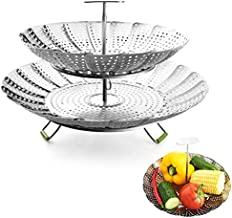 Food Steamer Baskets For Cooking 2 Layers - Expandable & Collapsible Vegetable Steamer Basket Stainless Steel (7