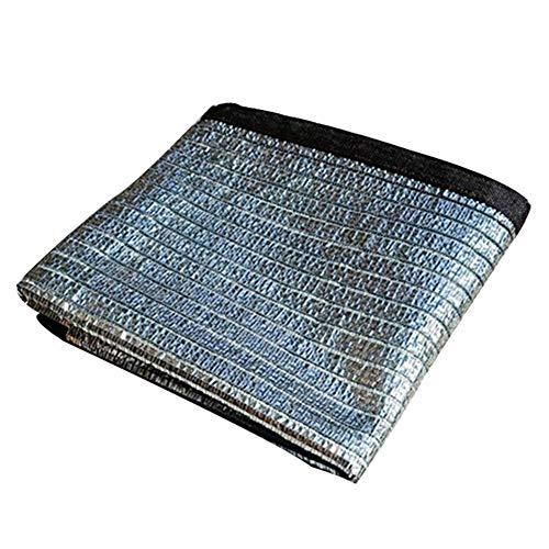 SZ JIAOJIAO schaduw doek aluminiumfolie waterdicht zonwering outdoor vissen afdekking met versterkte gesp, (kleur: zilver, grootte: 1x1m)