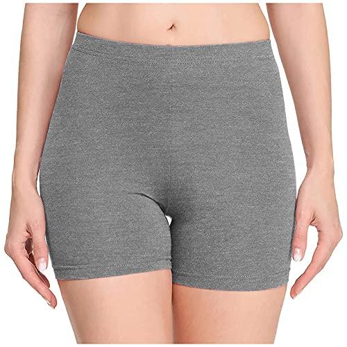 Mallas de Yoga Color Liso para Mujer Leggins Elástico y Transpirable Pantalón Corto Deporte Mujer Elegante Shorts Deportivos Suave y Cómodo Pantalones Cortos Mujer Ideal para Fitness