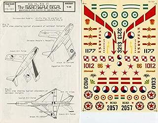Authenticals Microscale Decals 1:72 Mig-15 Mig-21 #72-101
