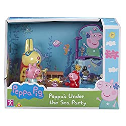 Mermaid themed playset Includes figures, themed sign and mermaid toy Create your own Peppa Pig under the sea adventure Encourages imaginative play