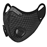 UTOTEBAG Breathable Face Mask with Valves Ventilated Sports Elevation Masks for Men Women Workout Exercise Training Gym, Black