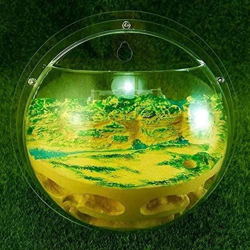 WWL Cajas de Insectos HD acrílico Semi-Circular Hormigas Colgantes Jerarquía con Exterior de Interfaz de diámetro 185 mm Hormigas Granja de Insectos terrario (Color : Style A)