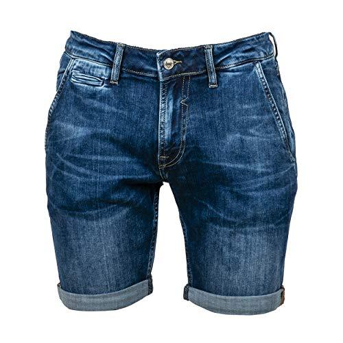 Guess Vicente Short Pantalones Cortos de Jean, BLU, 43494 para Hombre