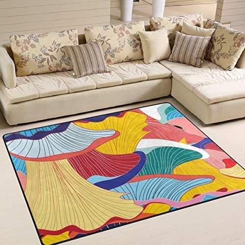 NA Alfombras de área Alfombras Tapetes 60x39 Pulgadas Arte Abstracto del Arco Iris para Sala de Estar Dormitorio Alfombrilla Decorativa Antideslizante