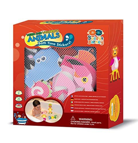 Buddy & Barney Weird & Wonderful Animals Bath Time Stickers Toy for Kids