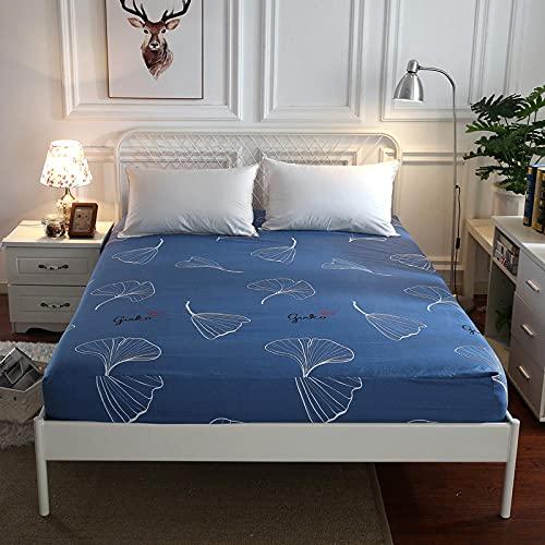 XGguo Protector de colchón de Rizo algodón y Transpirable Sábana de algodón Aloe Lijado a Prueba de polvo-19_1.2x2.0m